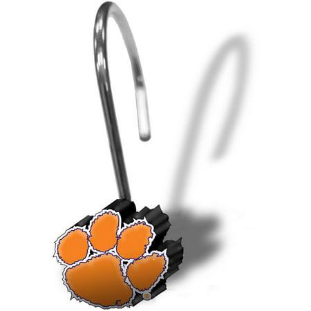 NCAA Clemson University Shower Hooks, 12 Piece