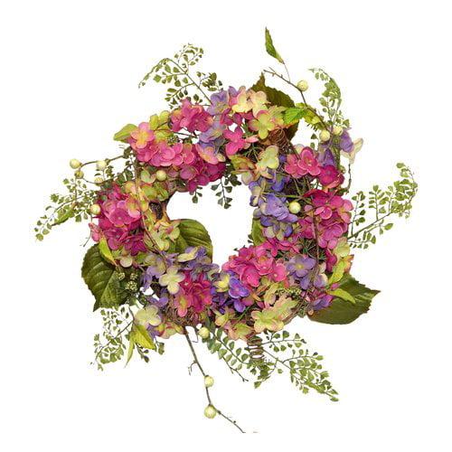 One Allium Way 22'' Hydrangea Wreath