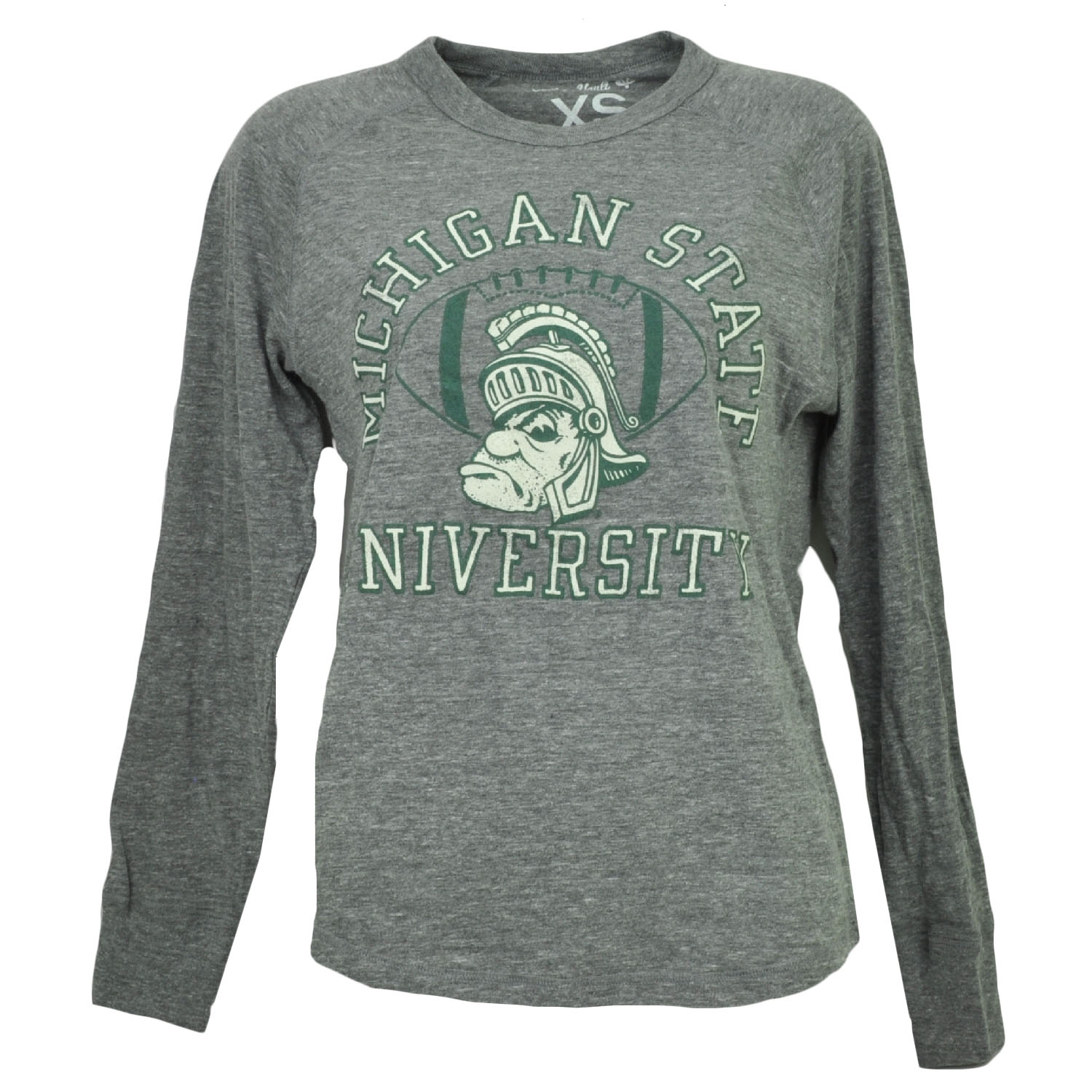 NCAA Michigan State Spartans Long Sleeve Tshirt Tee Womens Ladies Loose Fit Large by College Vault