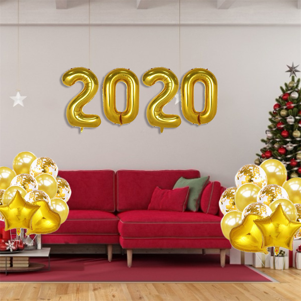 2020 New Year Balloons Christmas Decoration Festival ...
