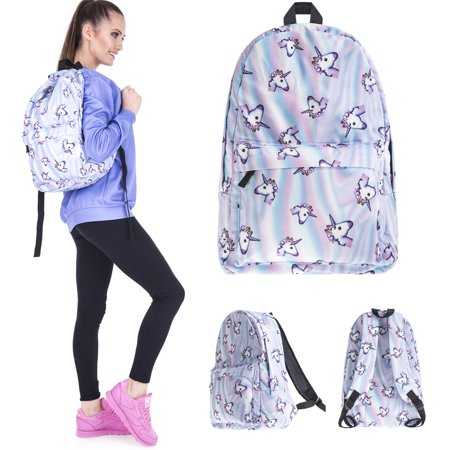 3D Print Backpack for Energetic Rainbow College School Backpack For Girl Travel