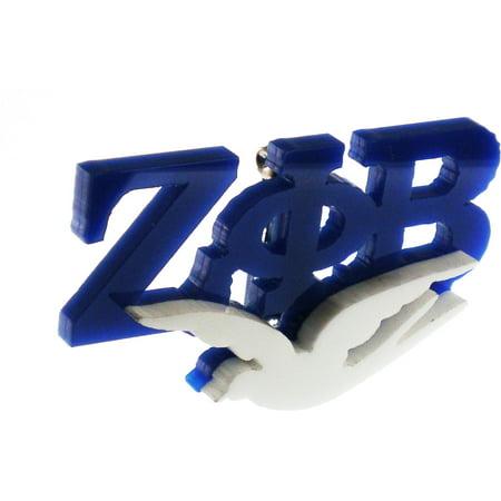 Zeta Phi Beta Dove Symbol Lapel Pin [Blue/White - 2