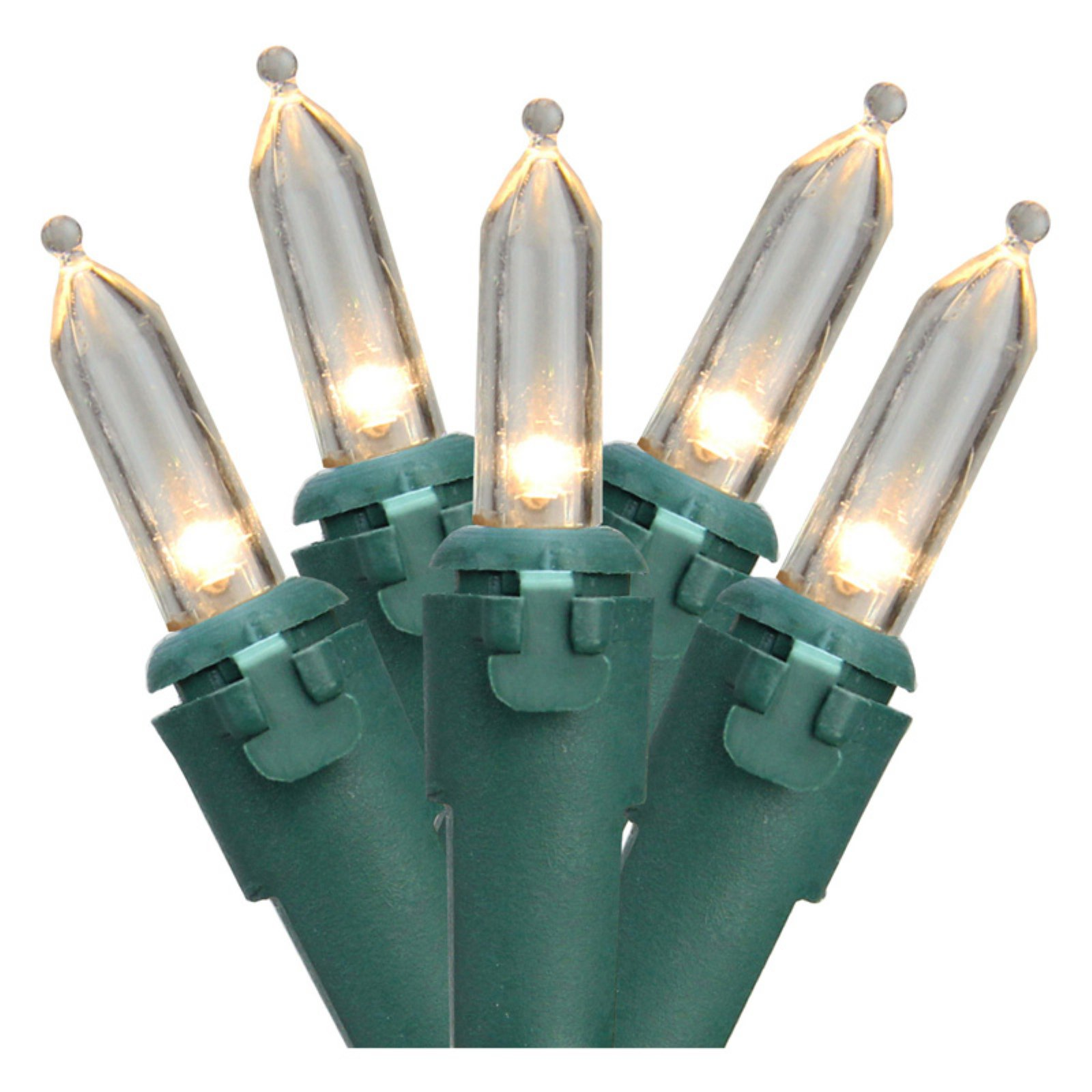 Northlight 100 ct. LED Mini Warm White Lights with Green Wire 4 in. Spacing