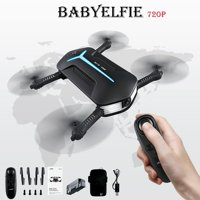JJRC H37 Mini Baby Elfie Pocket RC Drone Quadcopter WIFI FPV Foldable 720P 6-Axis Gyro Selfie Camera Night Light Headless Flying Drone Toys Birthday Gifts