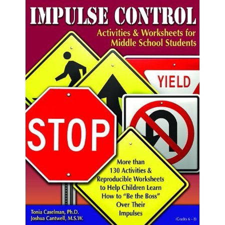 Impulse Control Activities & Worksheets for Middle School Students with CD by Tonia Caselman (Halloween Worksheet Grade 2)