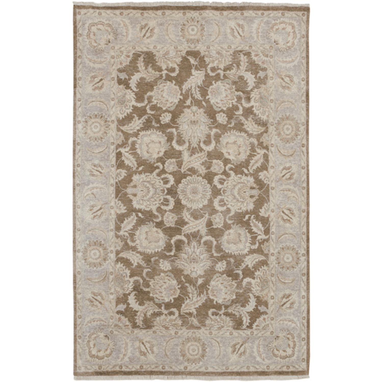 3.75' x 5.75' Baoding Praline, Biscotti & Cumin Wool Rectangular Area Throw Rug