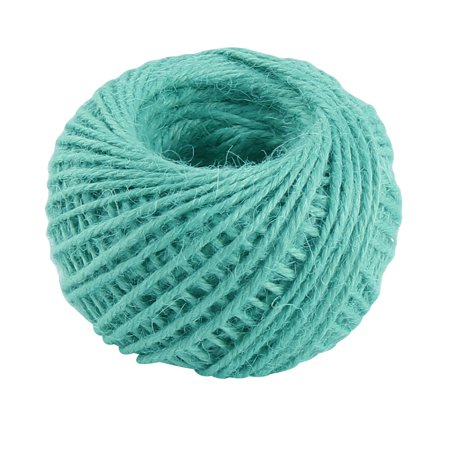 Jute Burlap Ribbon Twine Rope Cord String Pack Roll Turquoise 2mm Dia 50m Length - Burlap String