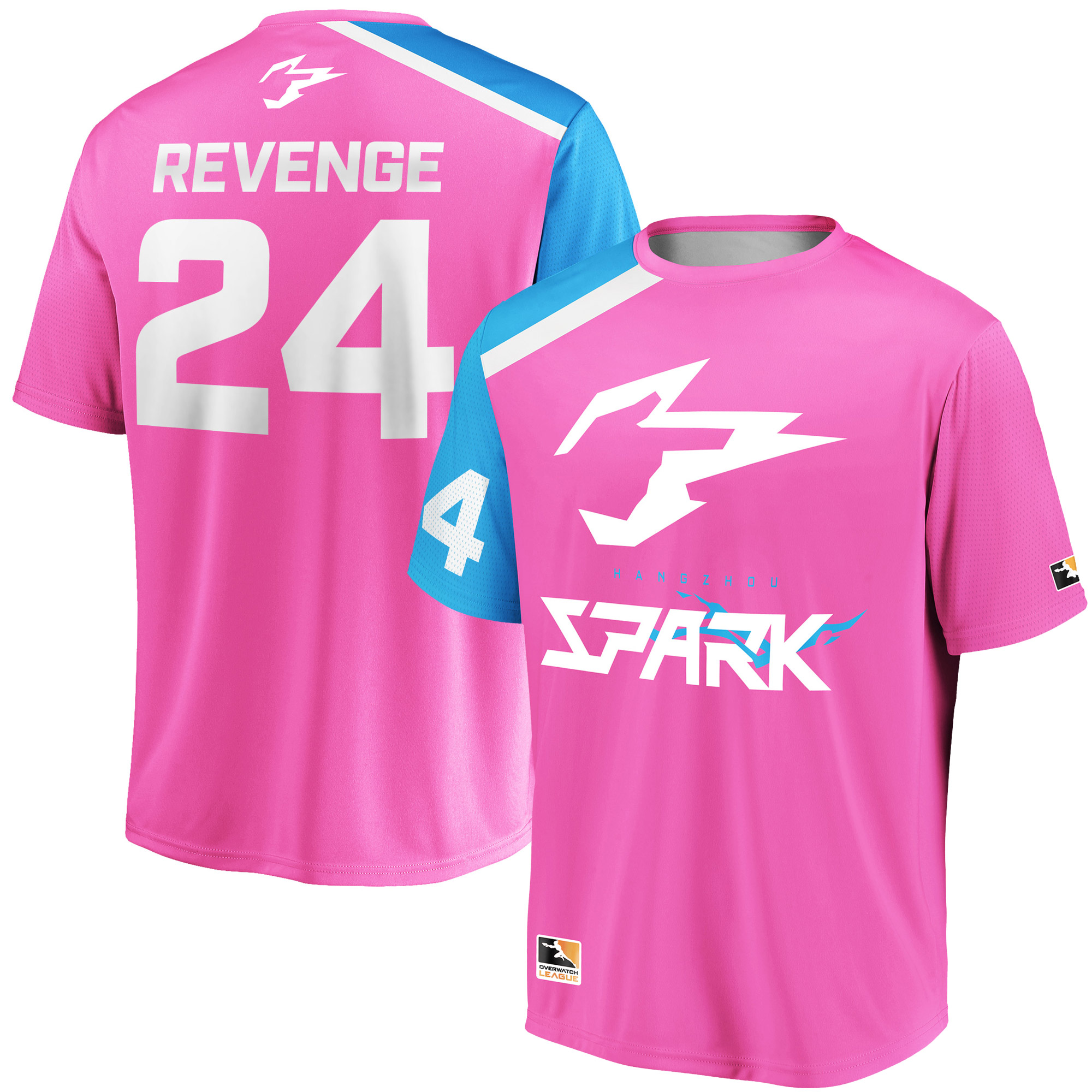 Revenge Hangzhou Spark Overwatch League Replica Home Jersey - Pink