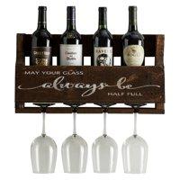 Del Hutson Little Elm Always Be Wall Mount Wine Rack