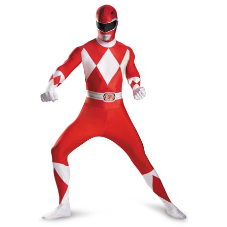 Yellow Mighty Morphin Power Ranger Costume (Mighty Morphin Red Ranger Bodysuit Tween/Adult)
