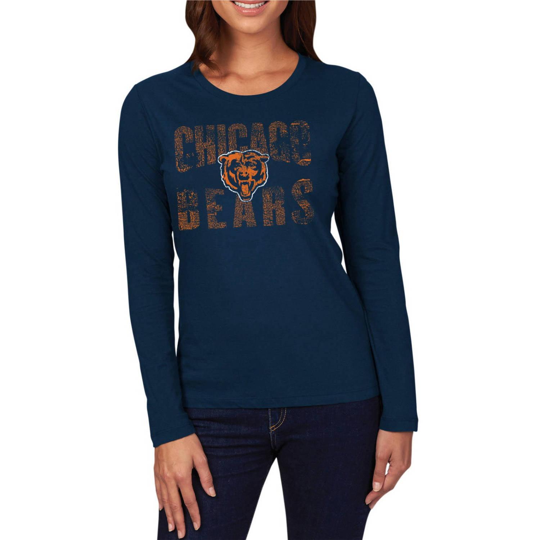 NFL Chicago Bears Women's Plus Long Sleeve Crew Neck Tee