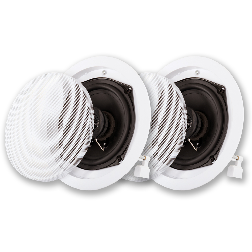 Acoustic Audio R191 In Ceiling / In Wall Speaker Pair 2 Way Home Theater 400 Watt R191-PR
