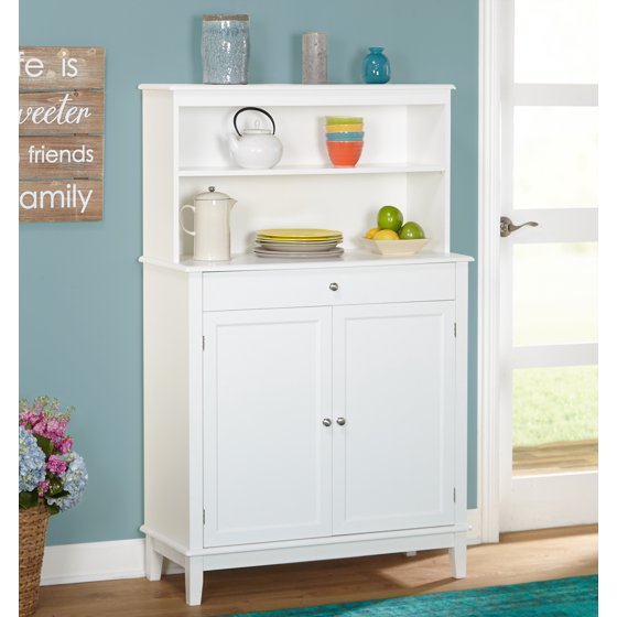 Farmhouse Buffet And Hutch White