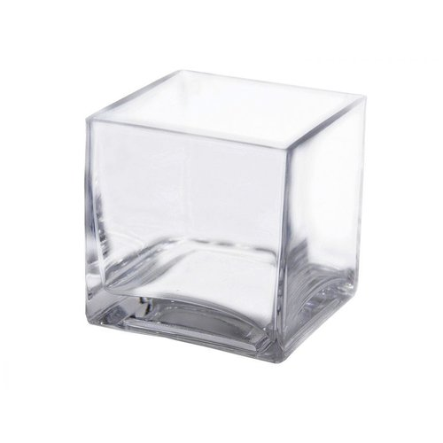 Ya Ya 4-in Glass Centerpiece Block Vase