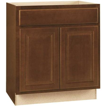 Hampton Bay 2478131 Hampton Assembled 30X34.5X24 In. Base Kitchen Cabinet With Ball-Bearing Drawer Glides In Cognac