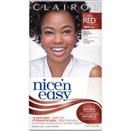 Clairol Nice N Easy Born Red Permanent Hair Color 2bg 126 Natural Burgundy