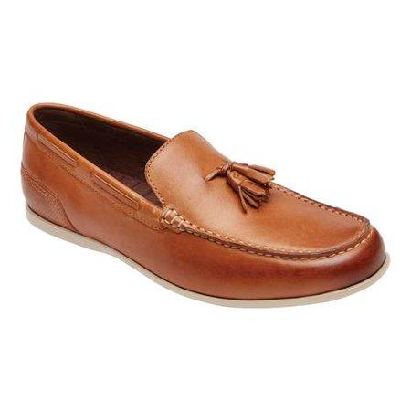 Men's Rockport Malcom Tassel Kiltie Loafer Orange Black Leather