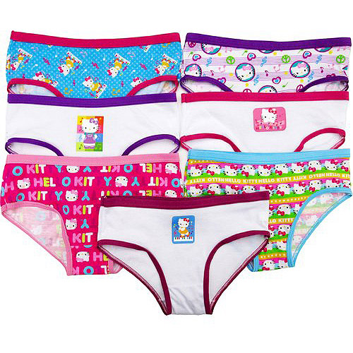 Hello Kitty Girls' Hipster-Style Underwear, 7pk