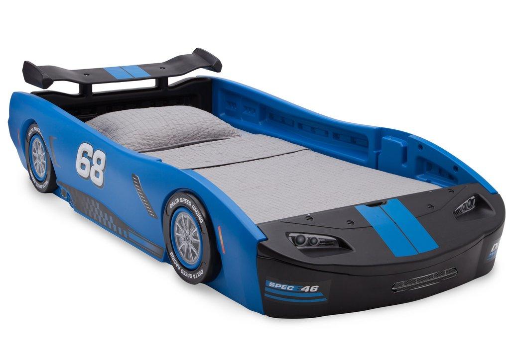 Delta Children Turbo Race Car Twin Bed Blue by Delta Children