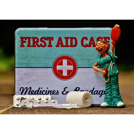 LAMINATED POSTER Box First Aid Funny Tin Can Nurse Sheet Color Poster Print 24 x 36