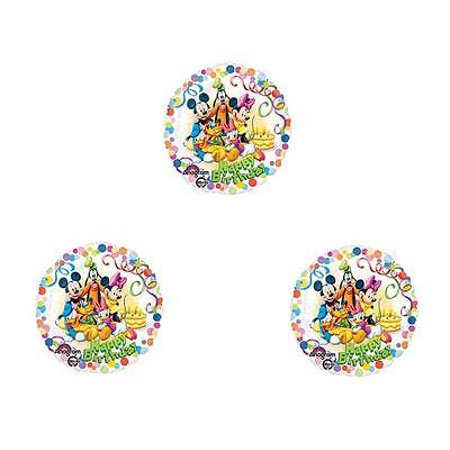 Set of 3 Mickey Mouse Clubhouse Happy Birthday Party Balloons Decorations - Club Decorations