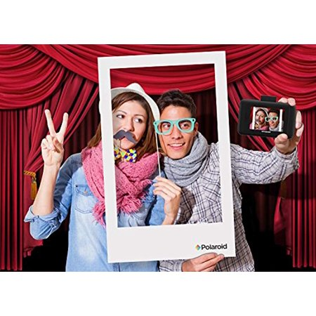 Polaroid All-In-One Photo Booth Kit – Includes Backdrop, Fun Photo Props,  Markers & Oversized Polaroid-Styled Frame – Perfect for Parties, Family