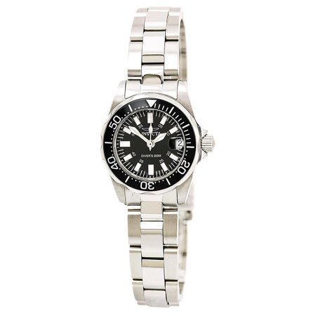 Signature Stainless Steel Black Dial Lady Diver 7059