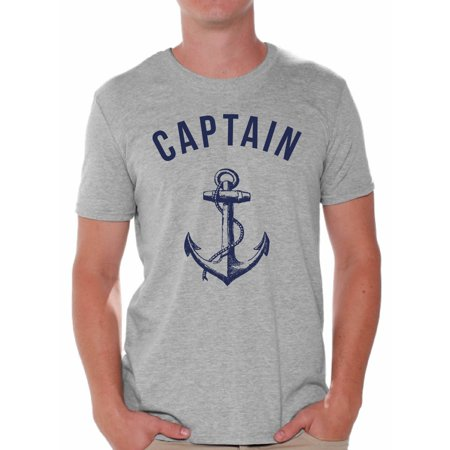 Awkward Styles Captain Shirt for Men Sea Tshirt for Him Sea Lovers Gifts Sea Themed Party Cute Gifts for Sailor Captain Clothes for Father Marine Clothing Collection Mister Captain T