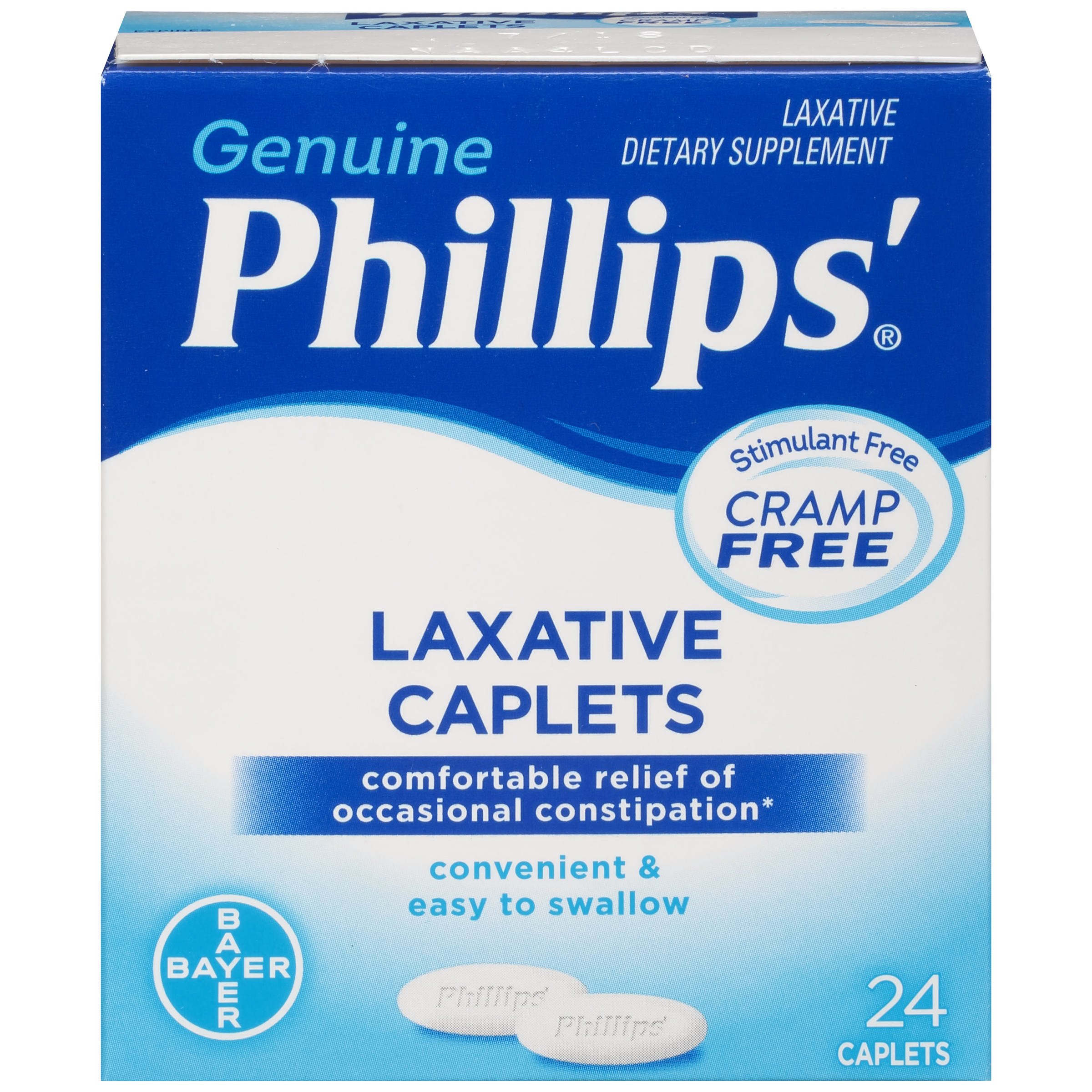 Phillips' Laxative Dietary Supplement Caplets, 24 Count