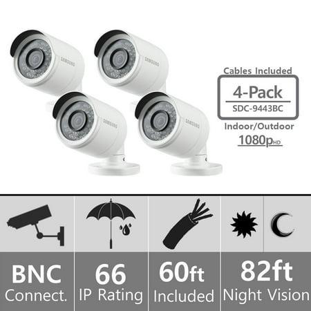 Lot of 4 - Samsung SDC-9443BC Weatherproof 1080p High Definition Camera (Samsung Surveillance System)