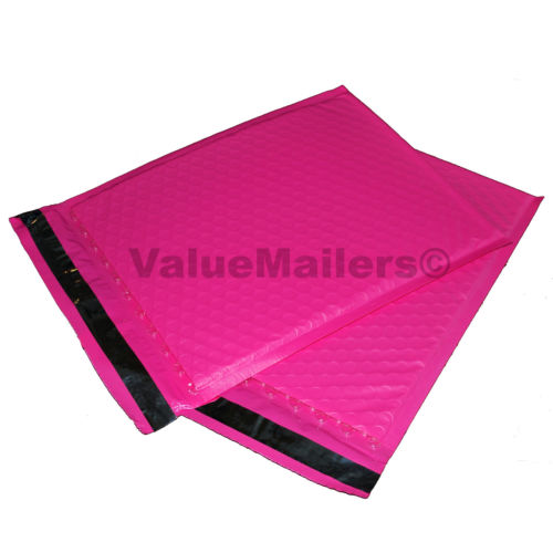 100 #2 PINK Poly Bubble Mailers Envelopes Padded Mailer Shipping Bags 8.5x12 by ValueMailers