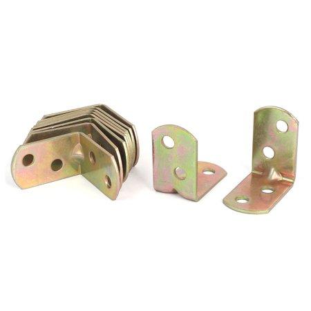 30mm x 30mm le renfort d'angle à angle droit mixte attaches crochets ton bronze 10 pcs - image 3 de 3