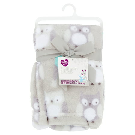 Parent's Choice Plush Baby Blanket, Gray Owl