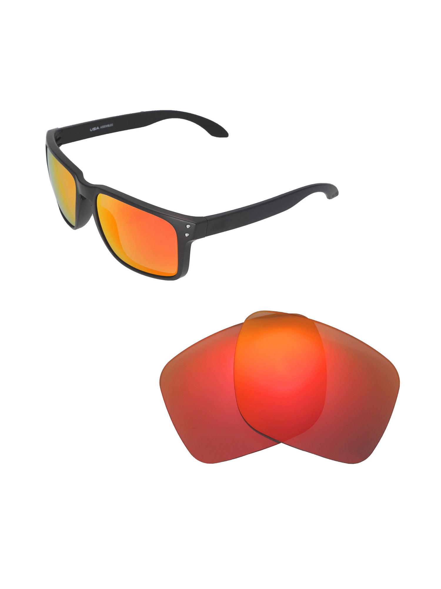 ca0716f8e0b Walleva - Walleva Brown Polarized Replacement Lenses for Oakley Holbrook XL  Sunglasses - Walmart.com