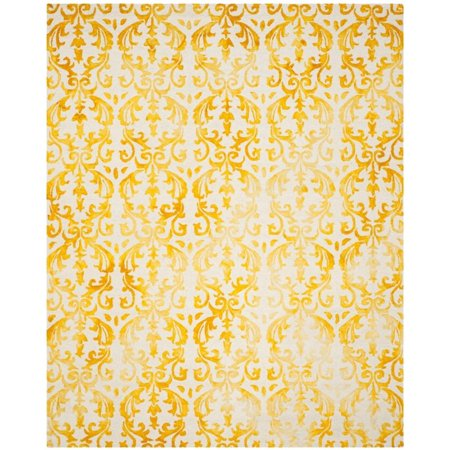 Safavieh Dip Dye 5' X 8' Hand Tufted Rug in Ivory and Gold - image 6 de 10