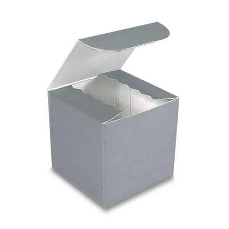 25ea - 10 X 5 X 4 Silver High Gloss Gift Box-Pkg Width 5