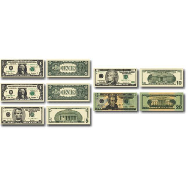 MONEY US BILLS 60 STICKERS PER PK