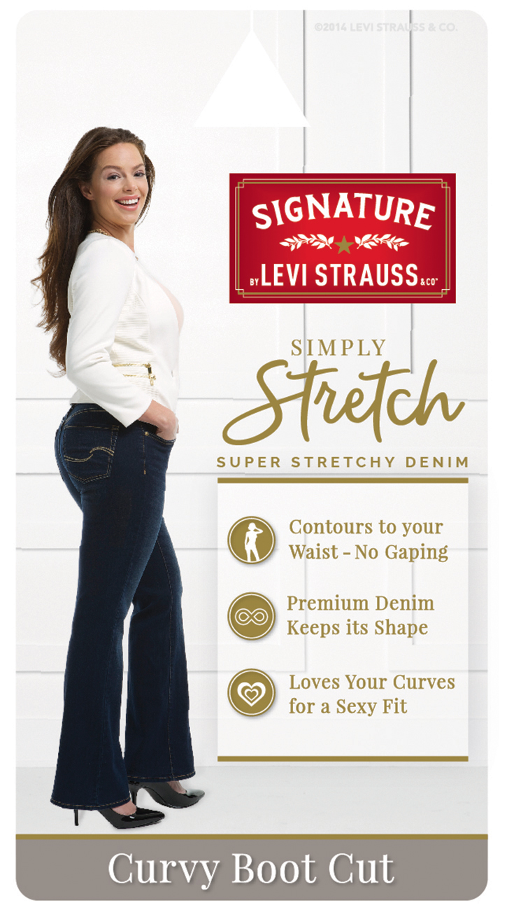 4f113da3f60 Signature by Levi Strauss   Co. - Signature by Levi Strauss   Co. Women s  Curvy Bootcut Jeans - Walmart.com