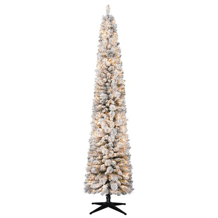 pretty nice 4546a a2aed Holiday Time Pre-Lit 9' Hudson Flocked Pencil Pine ...