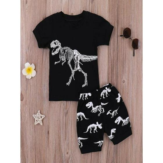 3780b3de3 Mosunx - Mosunx Toddler Kids Baby Boys Pajamas Cartoon Dinosaur ...
