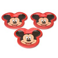 American Greetings Mickey Mouse Shaped Paper Dinner Plates, 36-Count
