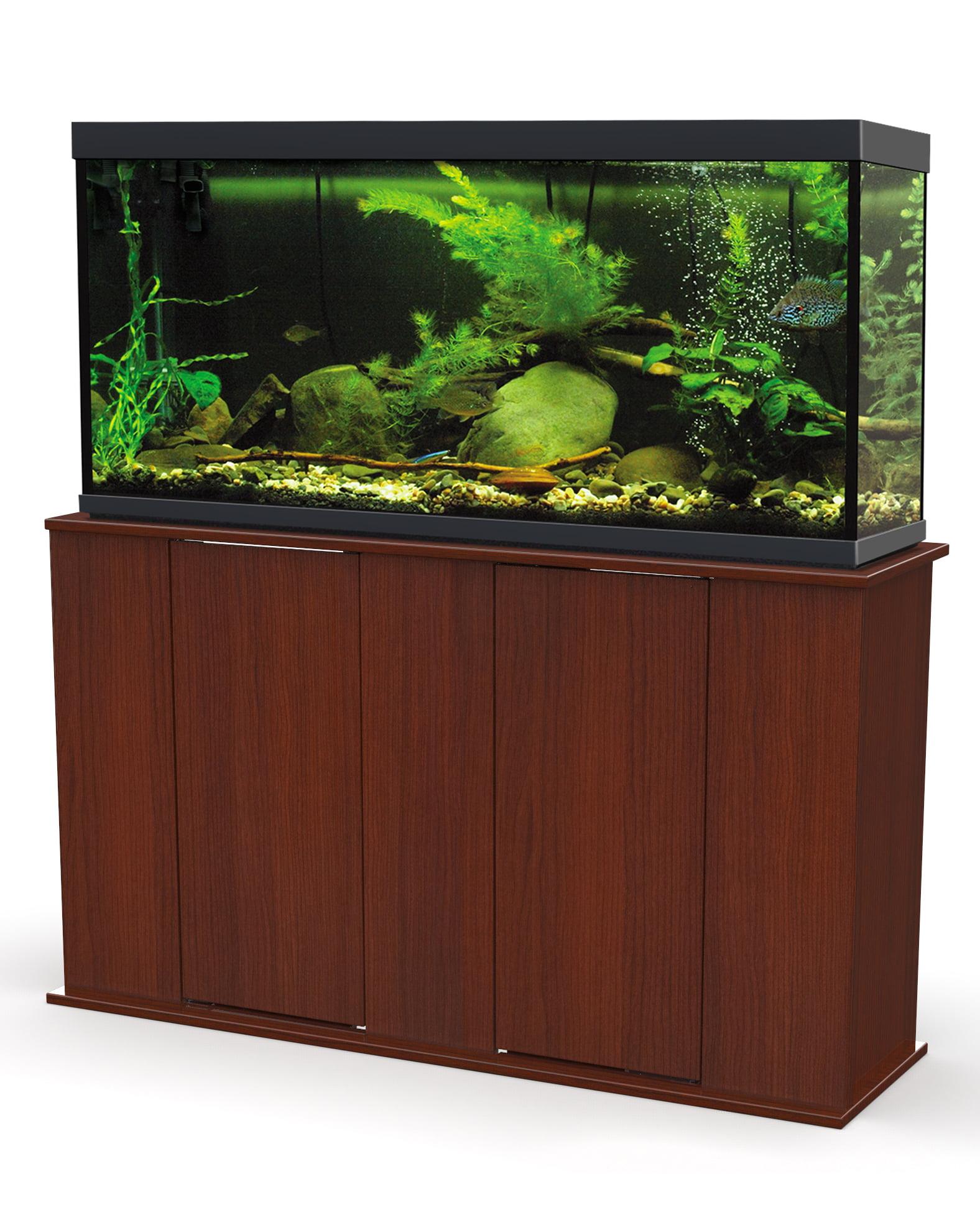 Upright Aquarium Stand Oak 55 Gallon Walmart Com Walmart Com