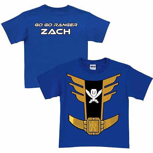 Personalized Power Rangers Blue Ranger Toddler Boy Royal Blue T-Shirt