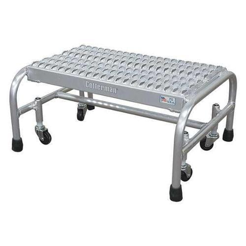 "Cotterman 12"" H Aluminum Rolling Ladder, 350 lb. Load Capacity, A1N2626A3B3C50P1"