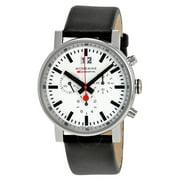 Evo Big Chronograph White Dial Black Leather Mens Watch A690.30304.11SBB