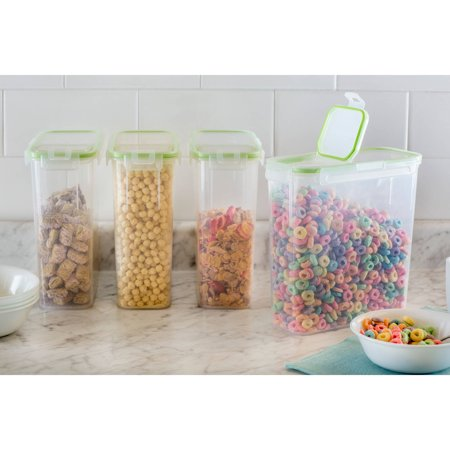 Snapware Airtight Plastic 15 3 Cup Fliptop Food Storage Container  4 Pack