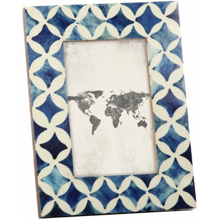Mainstays Azure Resin Tabletop Picture Frame, 4x6