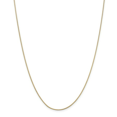 Solid 14k Yellow Gold .90mm Round Snake Chain Necklace 16