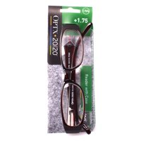 Optx 20/20 River +1.75 Reading Glasses with Case