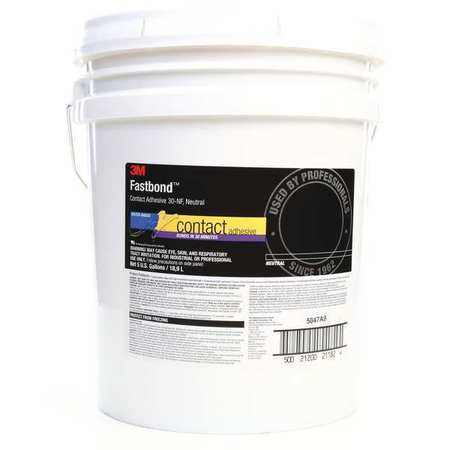 3M 30NF Contact Adhesive, Pail, 5 gal, Neutral